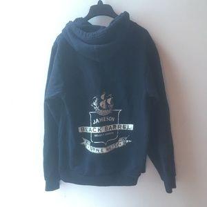 AMERICAN APPAREL jameson blackbarrel pirate hoodie